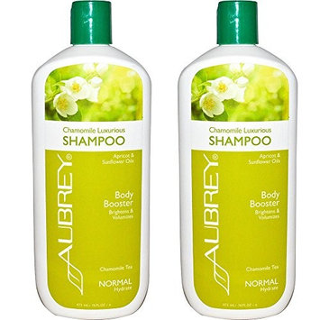 Aubrey Organics Chamomile Luxurious Shampoo Normal With Apricot and Sunflower Oils and Chamomile Tea, 11 fl oz (Pack of 2)