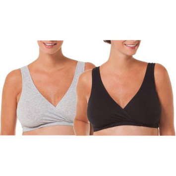 Loving Moments by Leading Lady Maternity Nursing Sleep Bra, 2-Pack