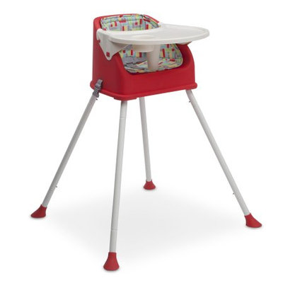 Delta Children Perfect Fit Multi-Use High Chair, Red