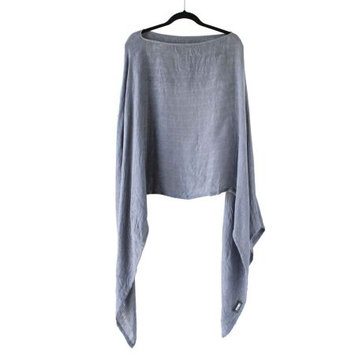 Bumkins Gray Bamboo Nursing Cover