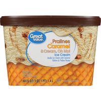Great Value Pralines Caramel & Cream, Oh My! Ice Cream, 48 oz