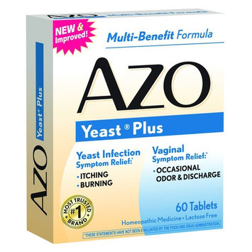 4 Pack AZO Yeast Prevention 60 Tablets Ea, Homeopathic Yeast Infection Treatment