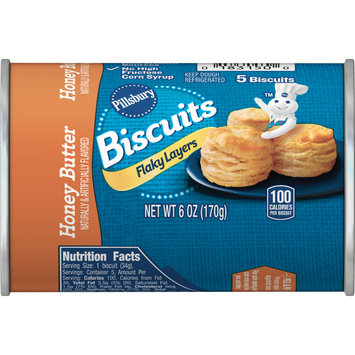 Pillsbury Honey Butter Flaky Layers Biscuits, 5 Ct, 6 oz