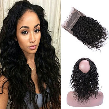 GEM Hair Brazilian Water Wave 360 Lace Frontal Closure Naturel Headline With Baby Hair Wet and Wavy Human Hair Pre Plucked Frontal 1pc 10 inch