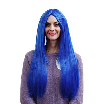 """YaRui Center part new wig long straight Heat Resistant Synthetic Daily Cosplay Fashion Wigs for Black Women with Wig Cap 32""""80cm"""