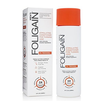 FOLIGAIN Stimulating Conditioner For Thinning Hair For Men with 2% Trioxidil (8oz)