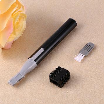 Yosoo Lady Facial eyebrow pencil,Multi-Function Portable Electric Women Facial Trimmer Shaver Eyebrow Shaper Pen Hair Remover Safety Beauty Knife,Black