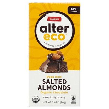 Alter Eco Organic Chocolate Deep Dark Salted Almonds, 2.82 OZ