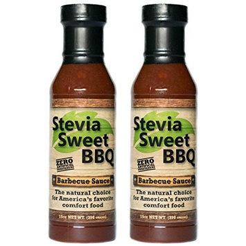 Stevia Sweet BBQ Sauce   Low Sugar (1g), Low Carb, Low Sodium, Gluten & Fat Free   Paleo & Keto Diet Friendly Barbecue Sauce   Zero Artificial Sweeteners (2 x 15 oz)