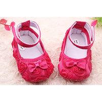 Liroyal Cute Newborn Baby Girl First Walking Shoes 13cm Rose