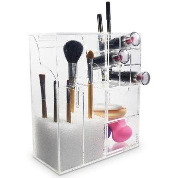 Ikee Design Acrylic Lipstick & Brush Holder Makeup Organizer