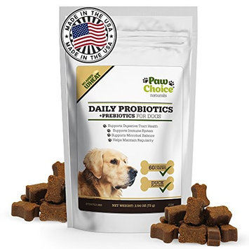 Probiotics for Dogs with Prebiotics - Daily Chews for Digestion, Regularity, Diarrhea Relief, Plus Supports Immune System and Health - Natural Supplement and Treat Made in USA