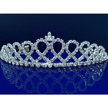 Bridal Tiara,Princess Tiara With Crystal Loops 24426 by SparklyCrystal