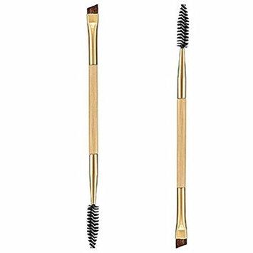 Makeup Brush Set,Neartime Beauty Bamboo Handle Double Eyebrow Brush Plus Eyebrow Comb