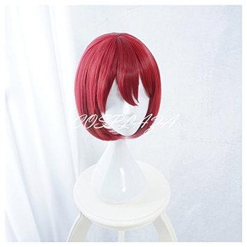 COSPLAZA Cosplay Wigs Short Red Girl Anime Hair Halloween Synthetic Wig