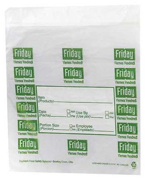 DAYMARK 112382 Day Portion Bag, Friday, PK2000