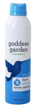 Goddess Garden - Sport Natural Sunscreen Spray 30 SPF - 6 oz.(pck of 6)