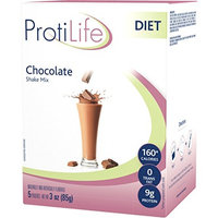 PROTILIFE Nutritional supplement CHOCOLATE flavor SHAKE mix 5 pouches - Nt. Wt. 3 Oz
