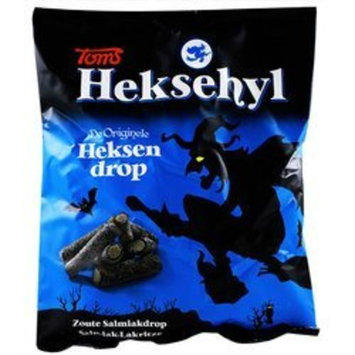 Licorice in Bag - Pingvin Tom Heksehyl Zout (Zoute Salmiak Staafjes/Salty Sticks Filled with Salmiak),10.6 oz