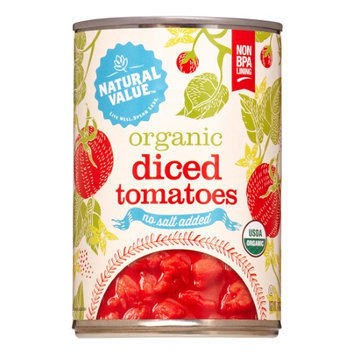 Natural Value Organic Diced Tomatoes in Tomato Juice, No Salt, 14.5-Ounce (Pack of 12)