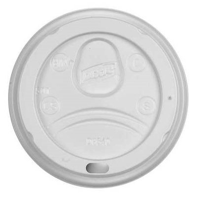 Dixie White Dome Lids for 10 oz. Insulated Paper Hot Cups