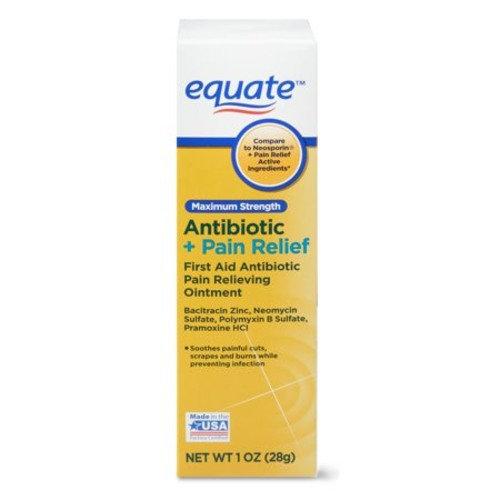 Equate Maximum Antibiotic + Pain Relief Ointment, 1 oz