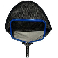 Pooline Products Small Heavy Duty Deep Rake with Wide Mouth and Durable Stiff Nylon Net