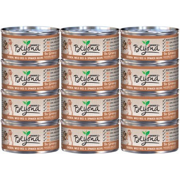 Nestle Purina Purina Beyond Chicken, Wild Rice & Spinach Recipe in Gravy Cat Food Case of 12- 3 oz. Cans