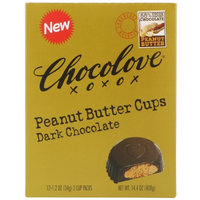 Chocolove, Peanut Butter Cups, Dark Chocolate, 12- 2 Cup Packs, 1.2 oz Each(pack of 3)