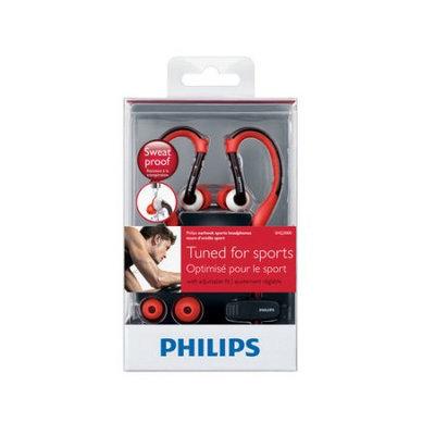 Philips Waterproof Earhook Headphones - Red