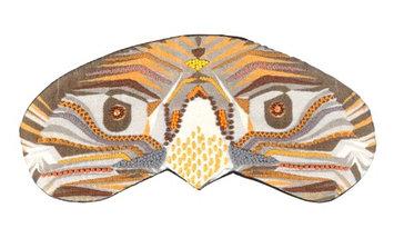 Trovelore Treasures & Tales Handmade Embelished 100% Silk Sleep Eye Mask- Orange Spirit Eagle