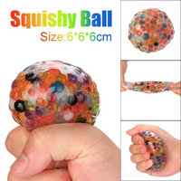 Hatop Spongy Rainbow Ball Toy Squeezable Stress Squishy Toy Stress Relief Ball For Fun