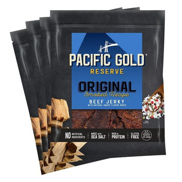 Pacific Gold Reserve Original Smoked Recipe Beef Jerky, 2.5 Ounce (Pack of 4)