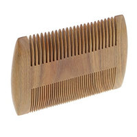 Baoblaze Natural Green Sandalwood Scent Wood Hair Comb, Handmade Wooden Head Massage Hair Care Styling Beard Comb (Double Sides)