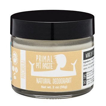 PRIMAL PIT PASTE All Natural Patchouli Deodorant | 2 Ounce Jar | NO Aluminum, NO Parabens| for Women and Men of All Ages | Non-GMO, Cruelty Free, Earth Friendly, BPA Free