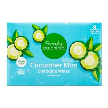 Cucumber Mint Sparkling Water - 8pk/12 fl oz Cans - Simply Balanced™