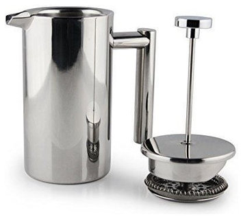1000ml French Press Stainless Steel Double-Wall Cafe Coffee Maker 8 Cup