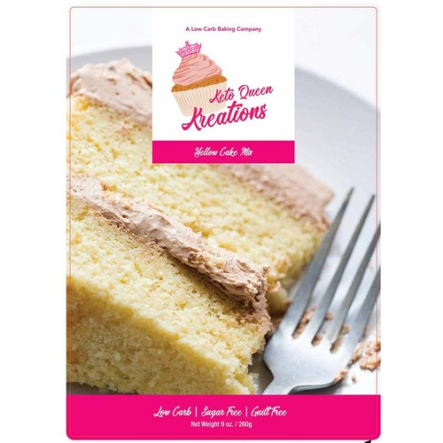 Keto Queen Kreations, Low Carb (1 net), Sugar Free, Keto, Yellow Cake Mix 9 oz. (12 Servings)