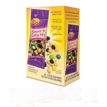 Kar's Sweet 'N Salty Trail Mix - 2 oz Single Serving Bags - Peanuts, Sunflower Kernels, Raisins & Chocolate Gems