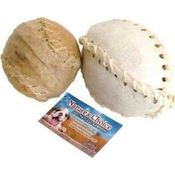 Loving Pets DLV4455 10-Pack Natures Choice Natural Rawhide Laced Football Chews for Dogs, 5-Inch, White