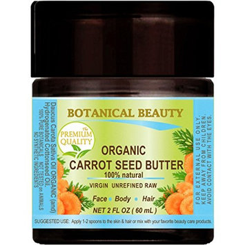 ORGANIC CARROT SEED OIL – BUTTER RAW. 100 % Natural / VIRGIN / UNREFINED. 2 Fl oz - 60 ml. For Skin, Hair, Lip and Nail Care.