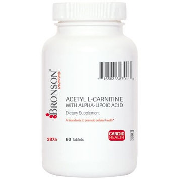 Acetyl L-Carnitine 500 mg with Alpha-Lipoic Acid 200 mg - 60 tablets