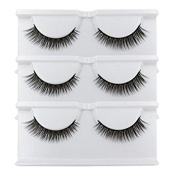 BEPHOLAN False Lashes 3 Pairs 3D Mink Eyelashes for Makeup Soft Fake Eyelashes Natural Look Reusable Handmade Fake Eyelashes (xmz026)