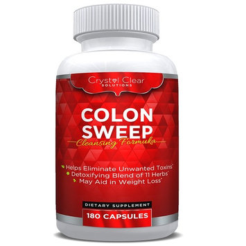 Colon Cleanse Detox Pills, Weight Loss Cleanser, 180 Capsules