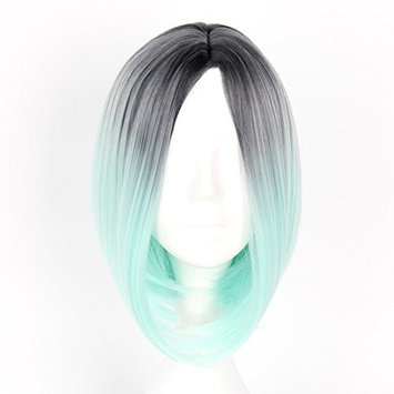 Mcoser Shoulder Length Central Parting Ombre Wigs Woman Bobo Hair