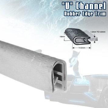 Car Elements White Car Edge Trim Seal Interior & Exterior PVC Rubber U Channel DIY Waterproof Weather Shield Anti Dust (48ft)
