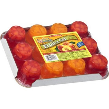 Raymundo's Fruit-n-Gel Peaches in Gelatin Family Pack, 12 Individual 3.5 oz Serving Cups