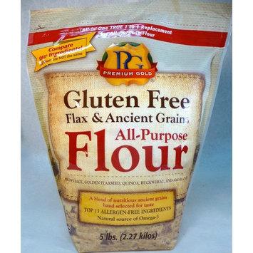 Premium Gold Gluten Free Flax & Ancient Grains All Purpose Flour, 5 Pound [Flax & Ancient Grains Flour]