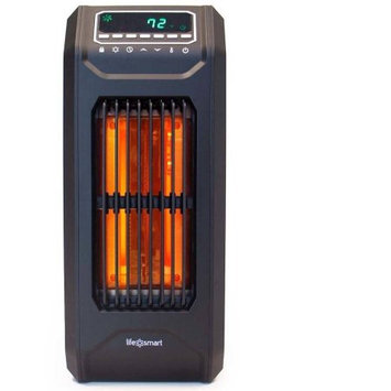 David Shaw Silverware Na Ltd Lifelux 3 Wrapped element infrared portable vertical tall heater with oscillation, Black