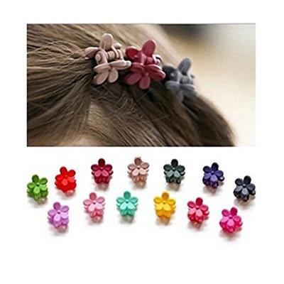 20pcs Girls Mini Hair Claws Clips Clamps Hair Pin Flower Hair Bangs Hair Barrettes Hair Pin for Little Girls Kids Toddlers Hair Accessories Mix Colored